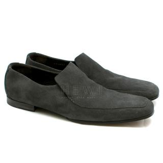 Gucci Grey Suede Men's Loafers