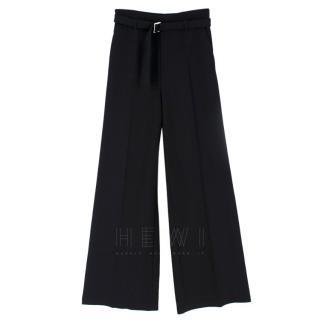 Maje High-Waist Wide-Leg Trousers