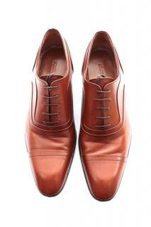 Louis Vuitton Cognac leather Virtuoso Richelieu Brogues