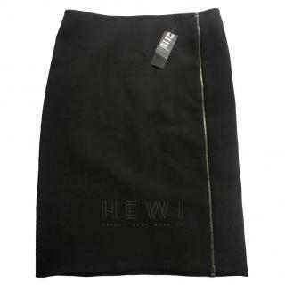 Joseph Zip Side Black Crepe Skirt