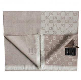 Gucci Monogram Jacquard Wool Scarf