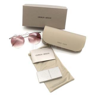 Giorgio Armani Signature Metal Round Frame Sunglasses