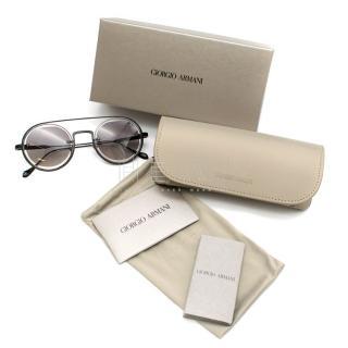Giorgio Armani AR6085 Cut-Out Aviator Sunglasses