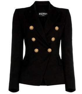 Balmain Black Textured Jacket