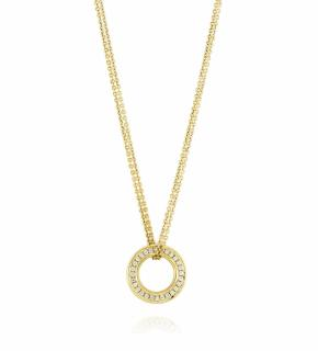 Boodles Small Roulette Yellow Gold Diamond Pendant