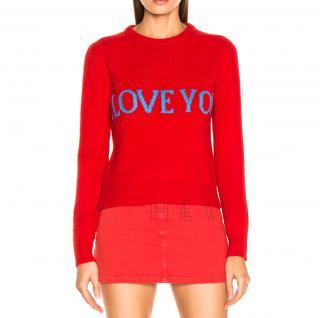 Alberta Ferretti I Love You Wool & Cashmere Sweater