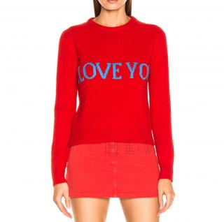 Alberta Ferretti I Love You Wool & Cashmere Sweater