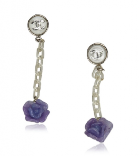 Chanel Camellia Drop Earrings