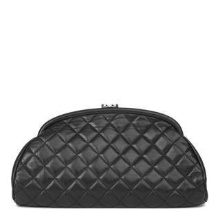 Chanel Leather Quilted Clutch Bag