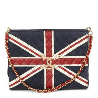 Chanel Union Jack Leather & Suede Quilted Bag