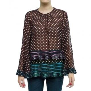 Zimmerman Bell Sleeve Polka Dot Blouse
