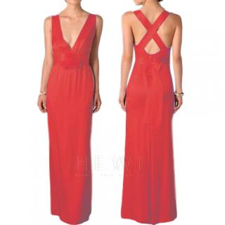 Temperley Red Silk Begonia Gown