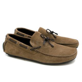 Ermenegildo Zegna Brown Suede Deck Shoes