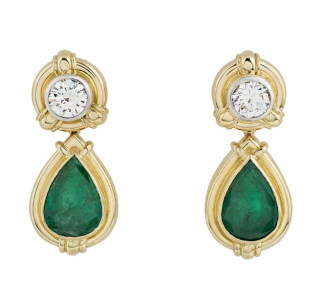 Theo Fennell exotic pear shaped drop earrings
