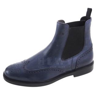 Fratelli Rossetti Blue Chelsea ankle boots