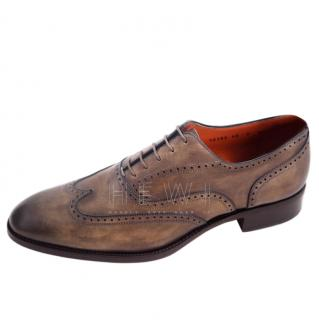 Santino Antique Brown Wingtip Brogues