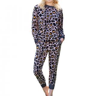 Tabitha Web Daisy Cashmere Leopard Print Joggers - New Season