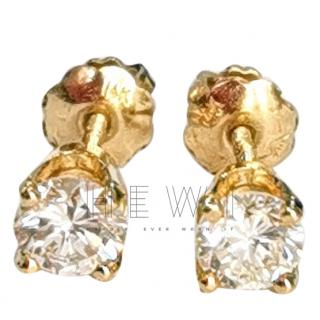 Bespoke Cathedral Set Soliatire Diamond Earrings