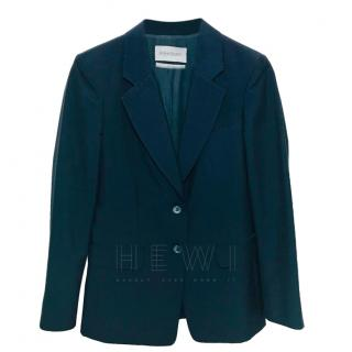 Yves Saint Laurent Navy Mohair & Wool Blazer