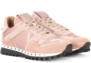 Valentino Garavani Soul Rockstud Suede Sneakers