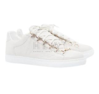 Balenciaga White Arena Crinkled Sneakers