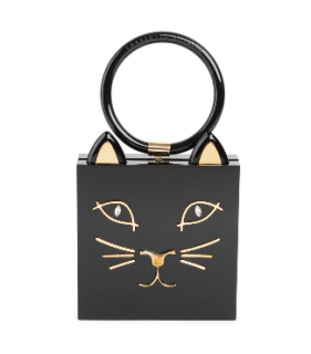 Charlotte Olympia Kitty Square Acrylic Box Clutch
