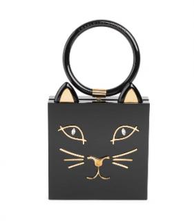 Charlotte Olympia Kitty Square Acrylic Box Clutch