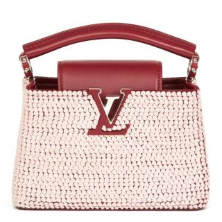 Louis Vuitton Embellished Leather Cappucines BB Bag