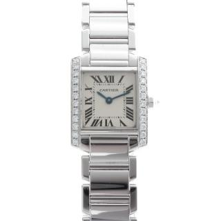 Cartier White Gold & Diamond Tank Francaise Watch
