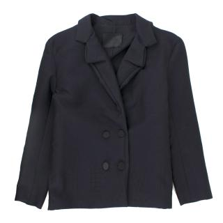 Lanvin Navy Wool & Cashmere Blend Jacket
