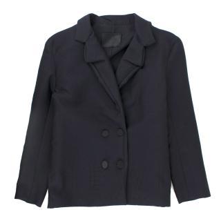 Lanvin Navy Wool & Cashmere Blend Jacket