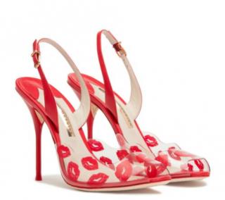Sophia Webster Valentine Kisses Lips Leather Sandals