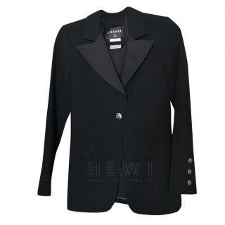 Chanel wool blend dinner jacket style blazer