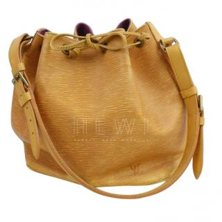 Louis Vuitton Petit Noe Yellow Epi Shoulder Bag