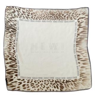 Roberto Cavalli Silk Animal Print Scarf