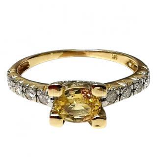 Bespoke Yellow Sapphire & Diamond Ring
