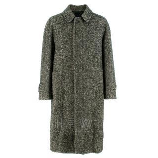 Drakes' Men's Tweed Wool Coat