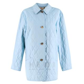 Burberry Diamond Quilted Powder Blue Jacket
