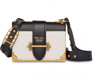 Prada White Cahier Shoulder Bag