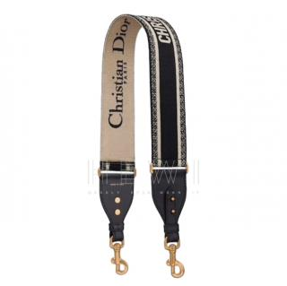 Christian Dior embroidered canvas shoulder strap