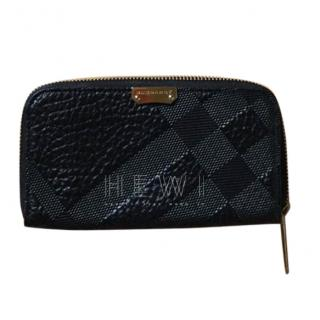 Burberry Textured Leather Zip-Around Wallet