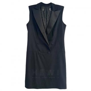 McQ Black Tuxedo Mini Dress