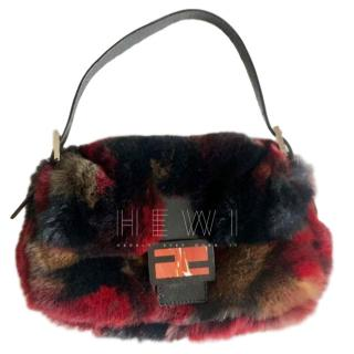 Fendi Faux Fur Baguette Bag