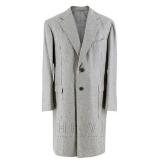 Gennano Solito Fine Cashmere Grey Coat