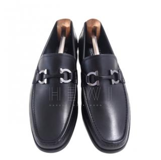 Salvatore Ferragamo Gancio Black Loafers