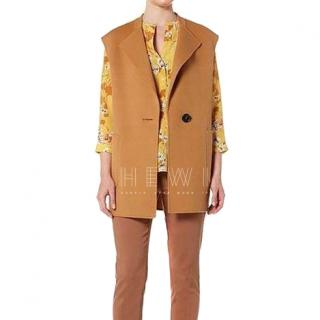 Marella Camel Wool & Cashmere Jacket