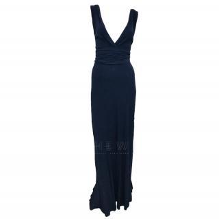Ghost Scoop-Back Purple Gown