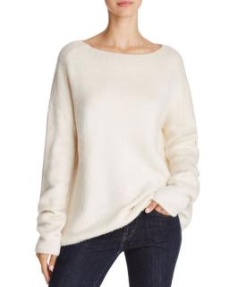 Theory Faux Fur Ivory Jumper