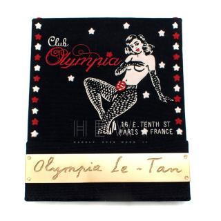 Olympia Le Tan Black Club Olympia Clutch Bag