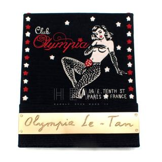 Olympia Le Tan Black Club Olympia Clutch Bag